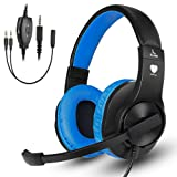 Amazon Price History for:Greatever Stereo Gaming Headset for PS4 Xbox One, Professional 3.5mm Bass Over-Ear Headphones with Mic,Volume Control for Laptop, PC, Mac, iPad, Computer, Smartphones, Blue
