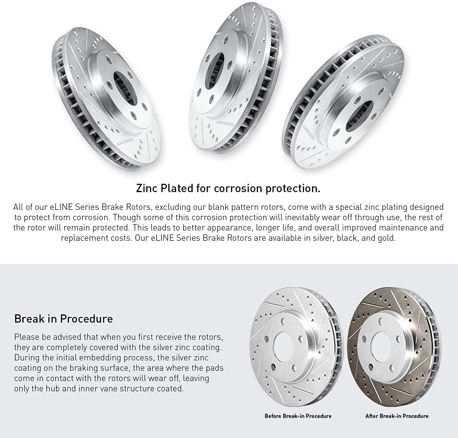 Note: Exc HD Brakes 2015 For Jeep Cherokee Front Anti Rust Coated Disc Brake Rotors and Ceramic Brake Pads