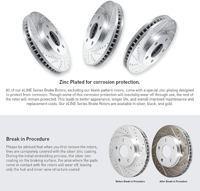 For 2014-2018 Acura RLX Full Kit PBR AXXIS Drill//Slot Brake Rotors+Ceramic Pads