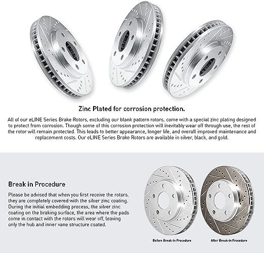 K8T-102078 Rear Disc Brake Rotors And Ceramic Pads Kit For 2016-2019 Mazda CX-5