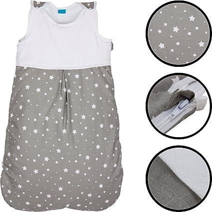 Saco de dormir de verano infantil, estampado de estrellas, 100 % algodón, para