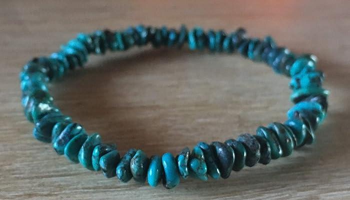 bracelet TURQUOISE véritable authentique perle Pierre naturelle  semi,précieuse