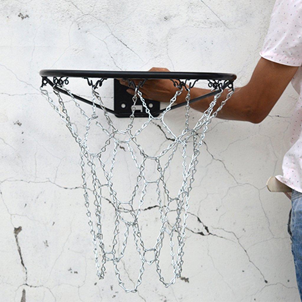 B Baosity Metall Basketballnetz Metallnetz Ketten Netz f/ür Basketballkorb Basketball Basketballring