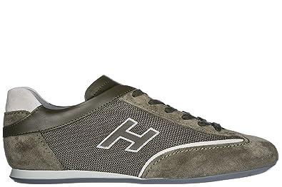 Hogan Herrenschuhe Herren Leder Schuhe Sneakers h365 Schwarz  39.5 EU