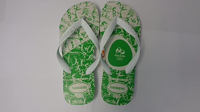 7824dac01 Image Unavailable. Image not available for. Color  Havaianas Rio 2016 Limited  Edition Flip Flops ...