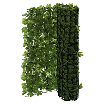 Pureday Brise Vue De Balcon Apparence Lierre Découpable Vert 3 X 1 M