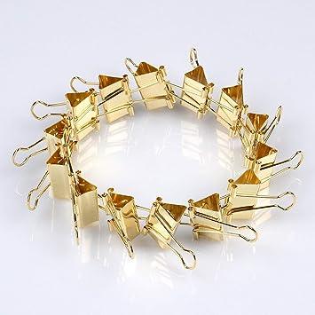 48 Stuck Metall Klammern Goldfarbene Buroklammern Multifunktions