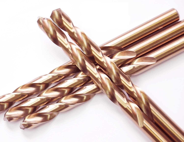 For Drilling Stainless Steel /& Hard Steels HSS Gold Cobalt Jobber Drill Bit