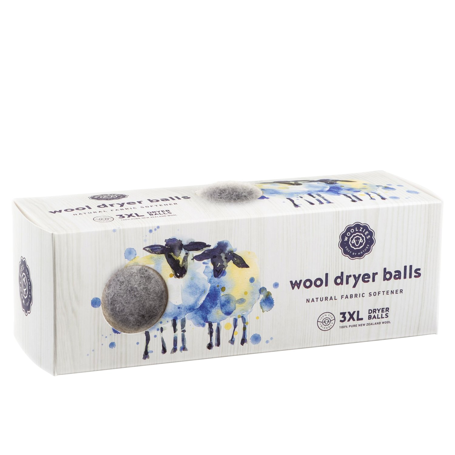 Natural Fabric Softener 2 Pack Wool Dryer Balls Woolzies