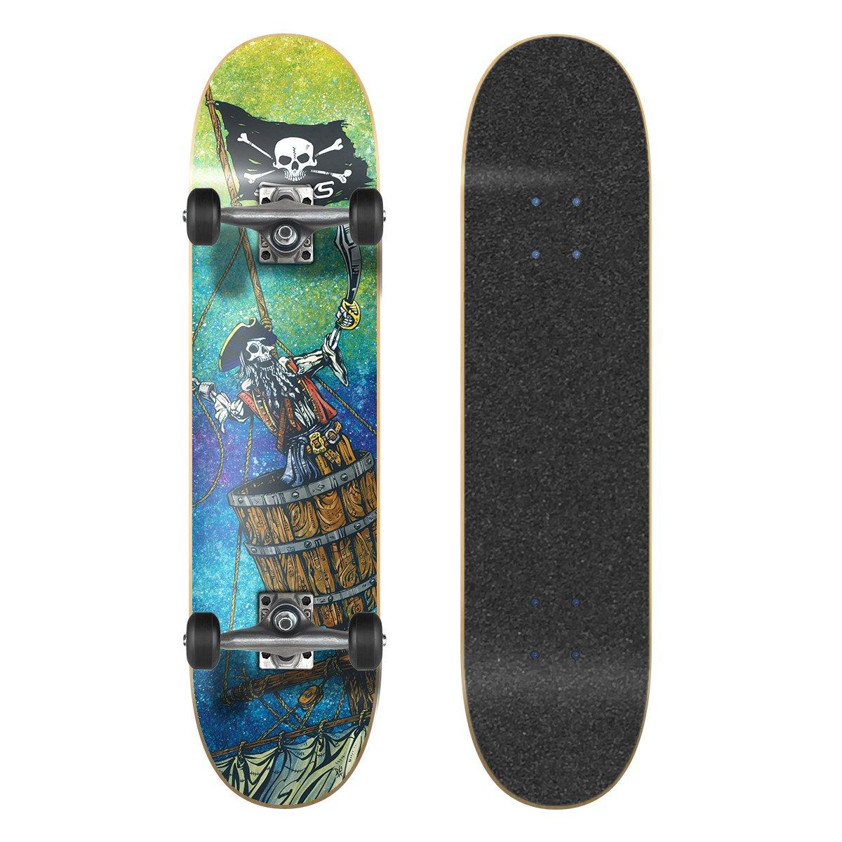 SkateXS Beginner Pirate Street Skateboard