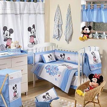 Disney Baby Micky Maus Dance Blau Bettwäsche Set Für Wiege