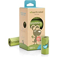 Earth Rated ER_UNSCENTBIO120 Unscented Poop Bags for Dogs (120 Count)