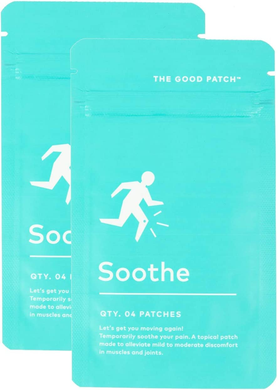 The Good Patch Soothe Patch, All Natural Pain Relief Patch with Capsaicin and Menthol. Plant Based (2 Pack) (8 Patches)