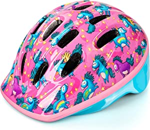OutdoorMaster Toddler Bike Helmet - CPSC Certified Multi-Sport Adjustable Helmet for Children (Age 3-8), 14 Vents Safety & Fun Print Design for Kids Skating Cycling Scooter