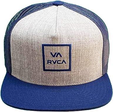 RVCA Mens VA All The Way Trucker III Snapback Hat Gray Heather ...