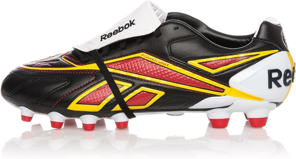 REEBOK Valde Plus HG, Botas de fútbol para Hombre, Negro/Blanco/Amarillo, 42.5 EU: Amazon.es: Zapatos y complementos