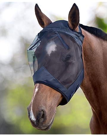 LTG PRO/® Masque Anti-Mouches en Polyester avec Capuche pour Cheval et Poney