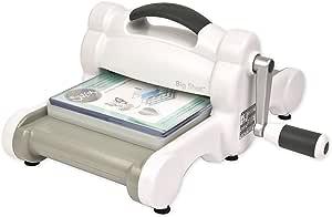 Sizzix 660200-Máquina de Troquelado Manual para Manualidades, álbumes de Recortes y Tarjetas, Apertura de 15,24 cm, Blanco, Única