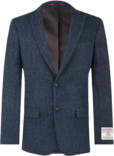 Mens 36R Mens Classic Fit Solid Navy Blue Two Button Suit Jacket Blazer
