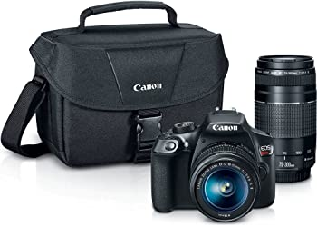 Canon EOS Rebel T6 18MP FHD DSLR Camera with 18-55 & 75-300mm Lens