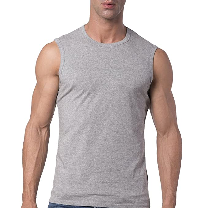 9c2e94e5 Mens Slim Fit Crew Neck Sleeveless T-shirt at Amazon Men's Clothing store: