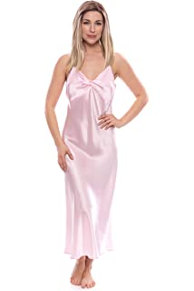 56654a826c TexereSilk Women s 100% Silk Luxury Nightgown - Sleepwear Gift (Caviar Noir)