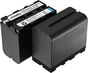 Miady 2 Pack Replacement Sony NP-F970 Batteries Compatible with Sony DCR-VX2100, DSR-PD150, DSR-PD170, FDR-AX1, HDR-AX2000, HDR-FX1, HDR-FX7, HDR-FX1000, HVL-LBPB, HVR-HD1000U, HVR-V1U, HVR-Z1P