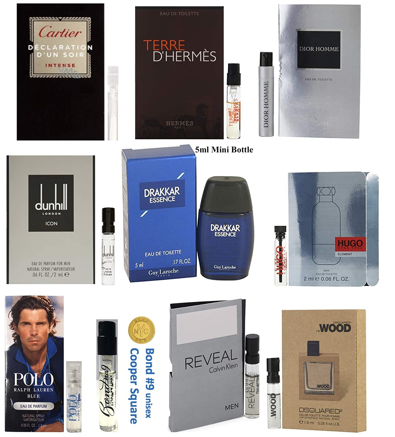 Men's Pilestone's Choice: Cologne Collection Men's Designer Fragrance Sample Pack: 10 Different Cologne