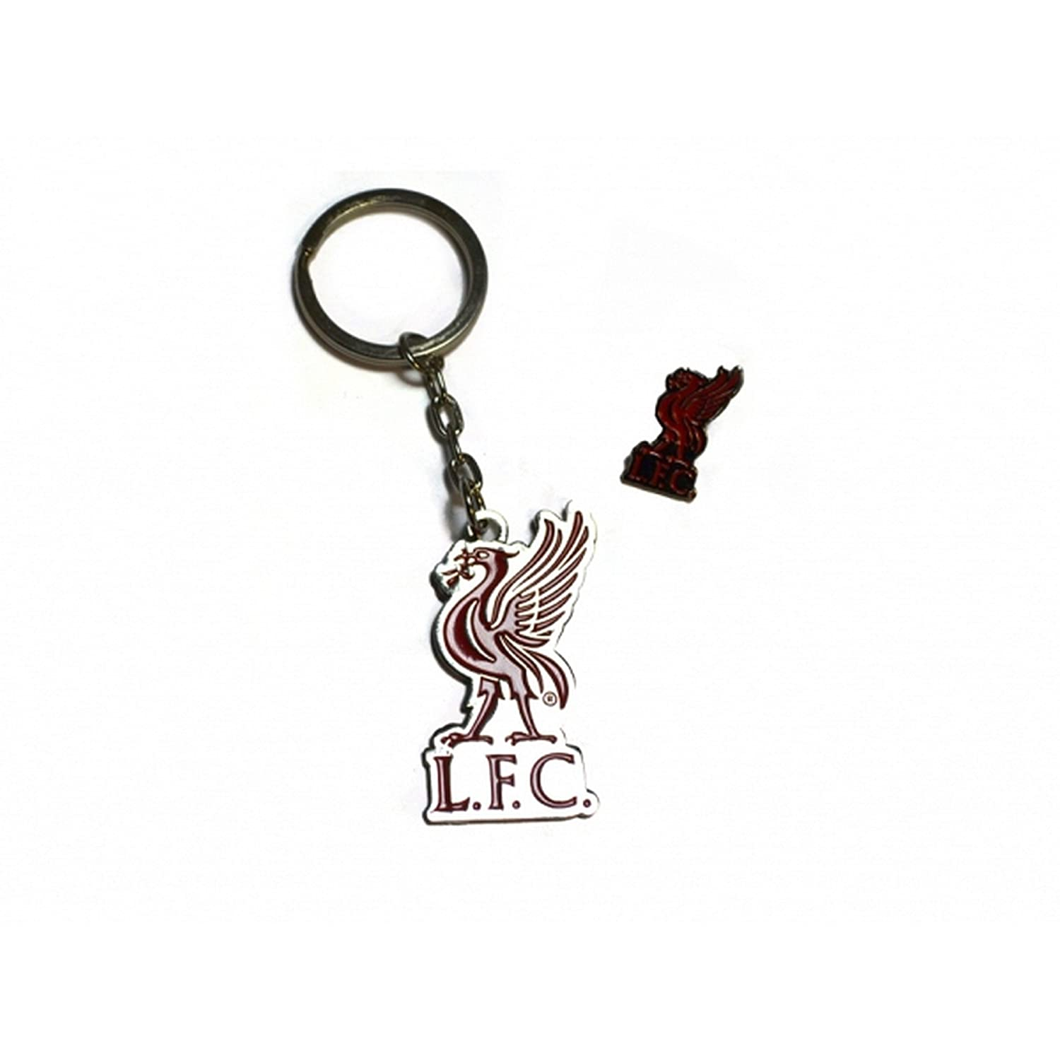 Liverpool FC Official Football Crest Keyring And Badge Set UTBS121_1