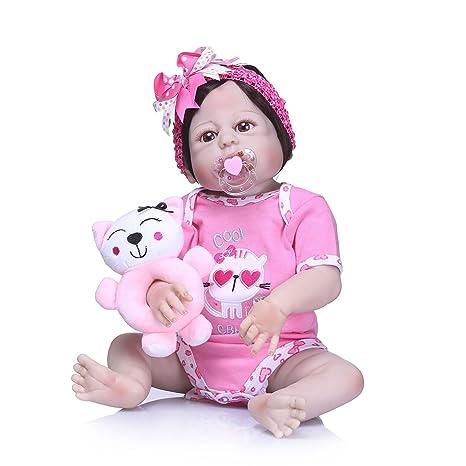 Amazon.es: Nicery Reborn - Muñeca de bebé de alto vinilo (50 a 55 cm ...