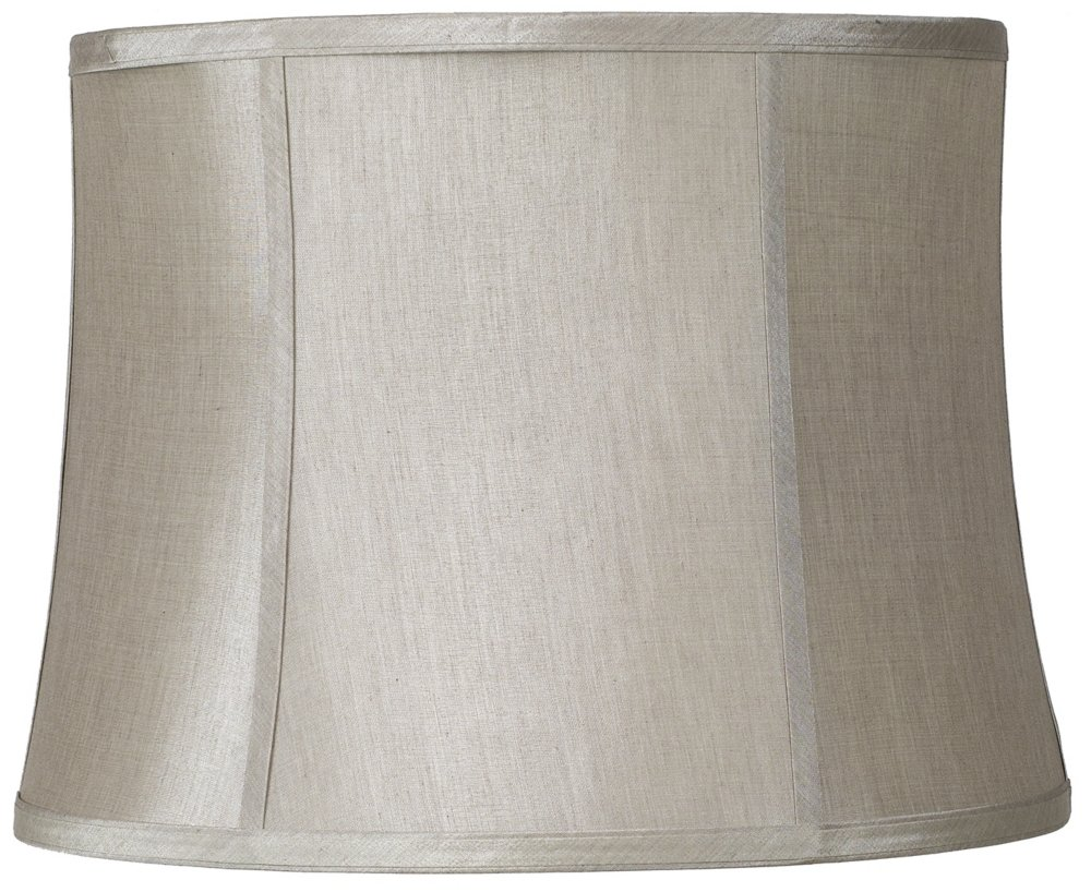 Taupe Gray Drum Shade 14x16x12x12 (Spider)