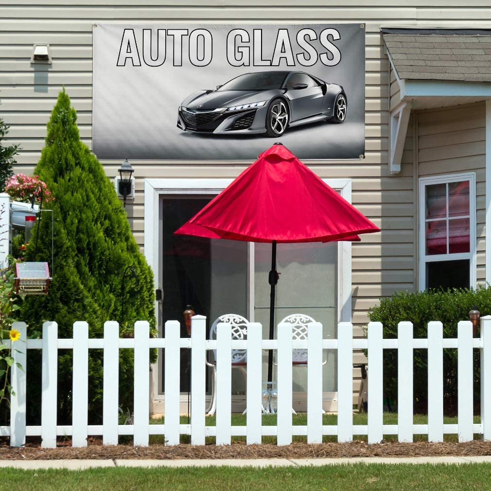 10 Grommets Multiple Sizes Available One Banner 48inx120in Vinyl Banner Sign Auto Glass Auto Car Vehicle Automotive Marketing Advertising Grey