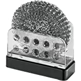 mDesign Kitchen Sink or Countertop Holder for Sponges or Scrubbers - Matte Black/Clear by MetroDecor