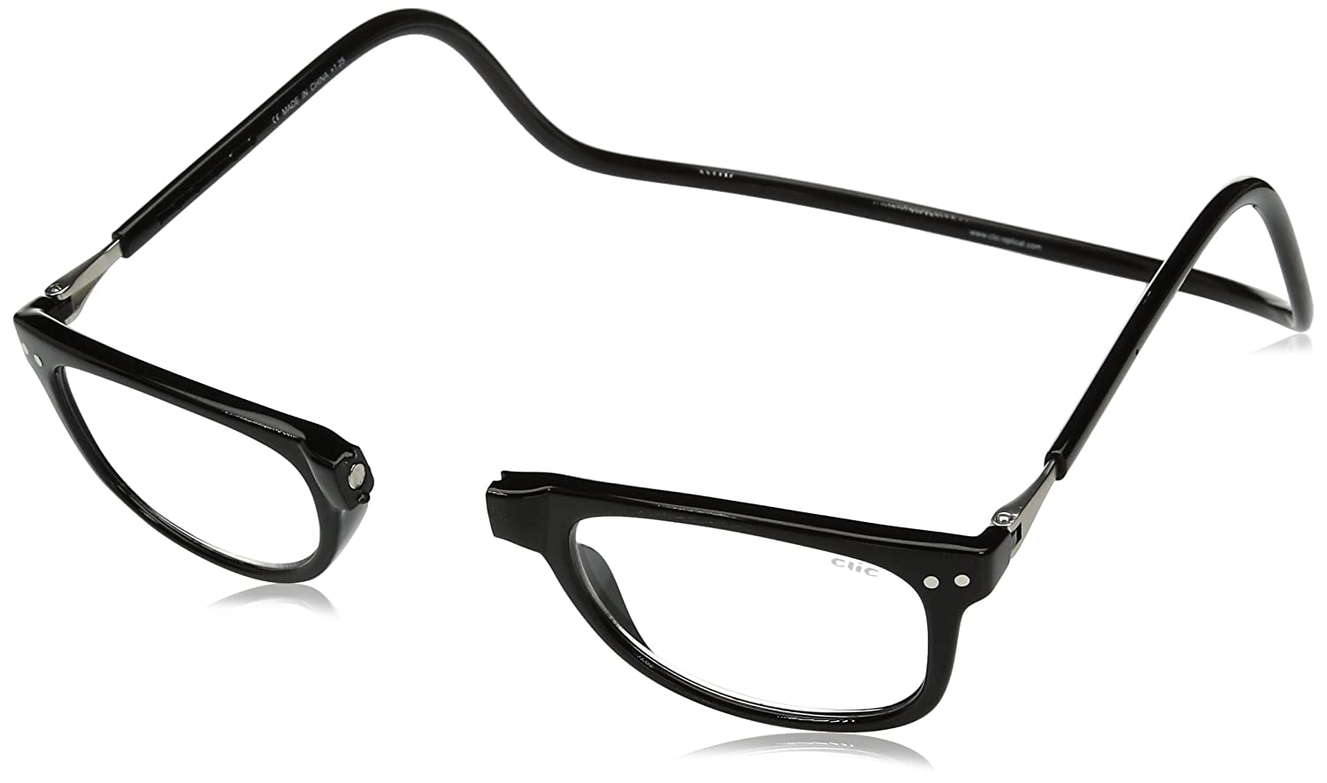 f6434c83a533 Clic Magnetic Eyeglasses Ashbury Reading Glasses in Black   +2.00   Amazon.in  Clothing   Accessories
