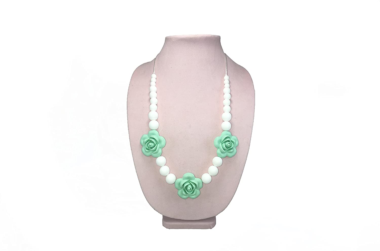 【楽天スーパーセール】 Holl Jolly Holl Baby Flower Silicone - Beaded Teething Necklace - B01HV3IET2 Mint by Holly Jolly Baby B01HV3IET2, リトルシップ:8cc5b092 --- a0267596.xsph.ru