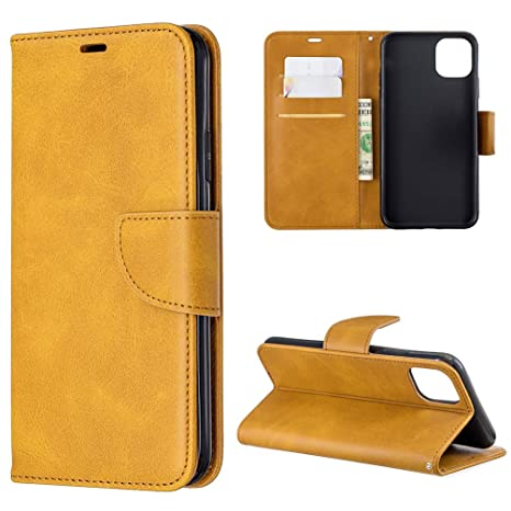 Funda para iPhone 11 Pro Max, Carcasa Cuero Billetera Piel ...