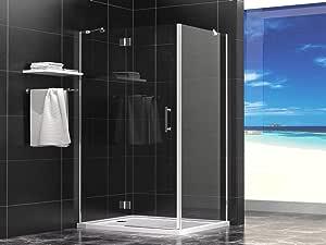 Cabina de ducha 100 x 80 x 190 cm con plato de ducha LUNGO (rectangular): Amazon.es: Bricolaje y herramientas