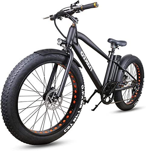 nakto 26 City Fat Tire Adult Electric Bicycles and 300W Assisted Bicycle for Men Woman with Removable 36V 10A Large Capacity Lithium Battery and Charger