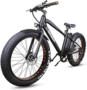 """NAKTO 26"""" City Fat Tire Adult Electric Bicycles and 300W Assisted Bicycle for Men Woman with Removable 36V 10A Large Capacity Lithium Battery and Charger"""