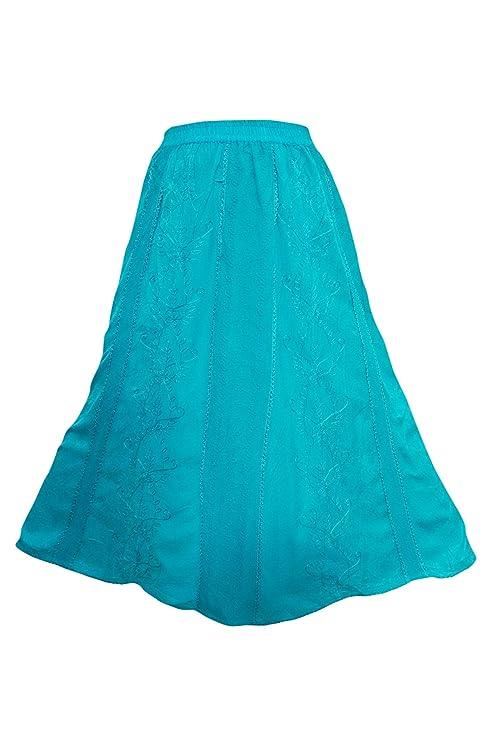 Mogul Interior - Falda Larga para Mujer, diseño Bohemio, Color ...