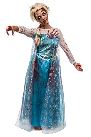 Adult Ladies Zombie Elsa Snowflake - Large  sc 1 st  Amazon UK & Adult Ladies Zombie Elsa Snowflake - Large: Amazon.co.uk: Clothing