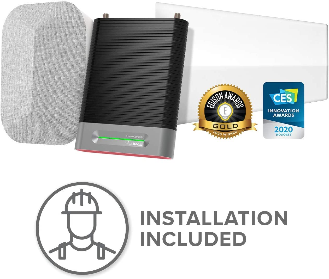 weBoost Installed | Home Complete (474445) Cell Phone Signal Booster Kit | Professional Installation Included | All U.S. Carriers - Verizon, AT&T, T-Mobile, Sprint & More | FCC Approved