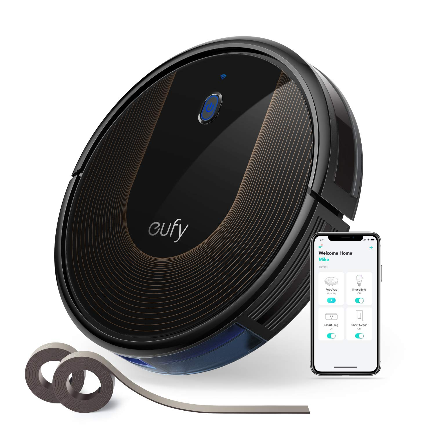 eufy [BoostIQ RoboVac 30C, Wi-Fi, Upgraded, Super-Thin, 1500Pa Strong Suction, 13.2 ft Boundary Strips Included, Quiet, Self-Charging Robotic Vacuum Cleaner, Cleans Hard Floors to Medium-Pile Carpets