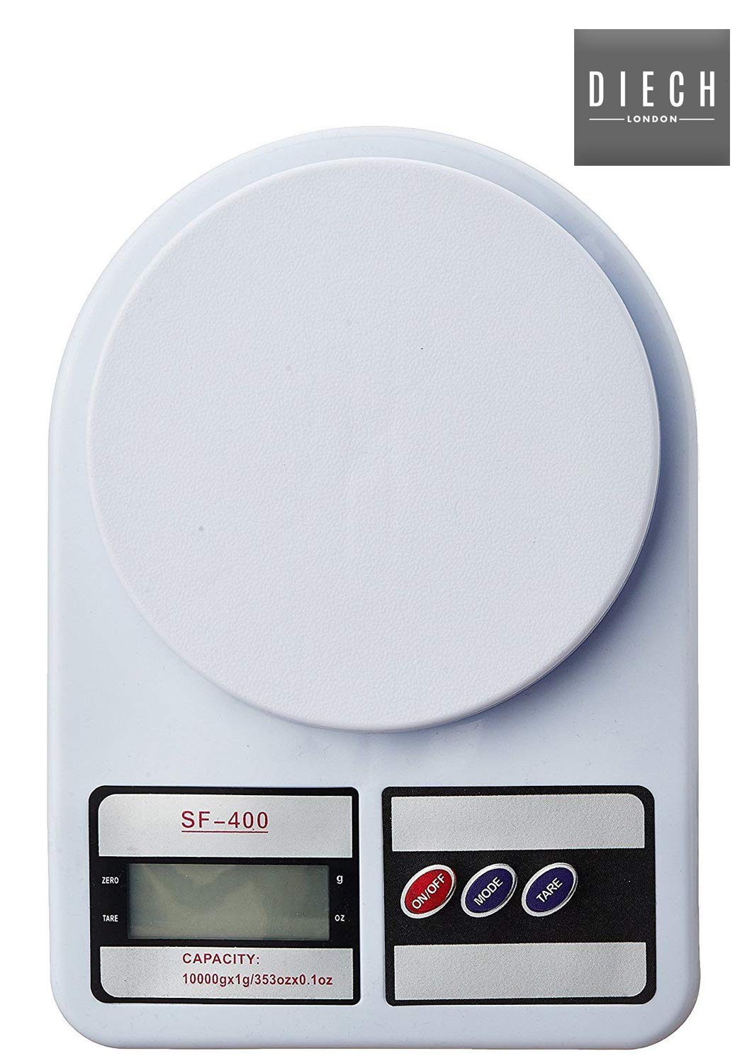 Weighs Up to 10Kg DIECH Digital LCD Electronic Kitchen Postal Scales Postage Parcel Weighing Weight