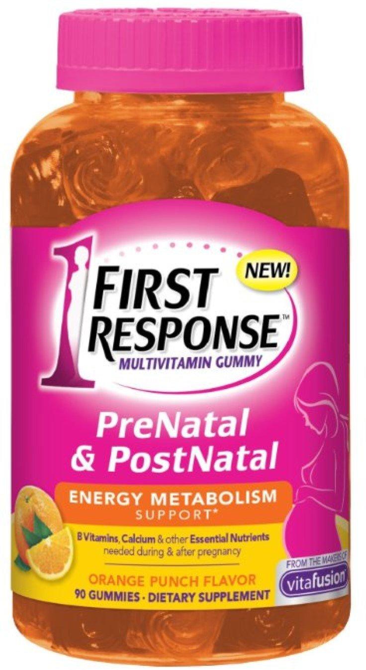 FIRST RESPONSE PreNatal & PostNatal Energy Metabolism Support, Orange Punch 90 ea (Pack of 5)