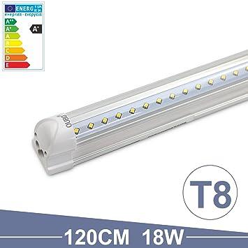 OUBO 120cm LED Leuchtstoffröhre komplett Set mit Fassung ...