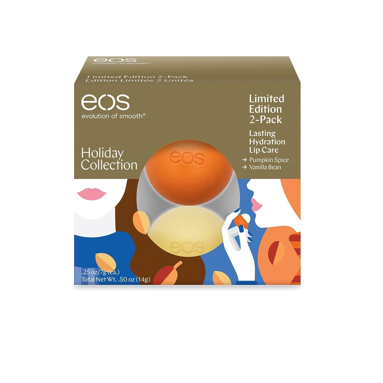 EOS 2-PC. Juego de especias de calabaza y vaina de vainilla Lip Balm: Amazon.es: Belleza
