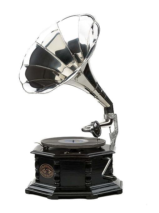 Gramófono Estilo Antiguo con bocina - Madera - para Discos ...