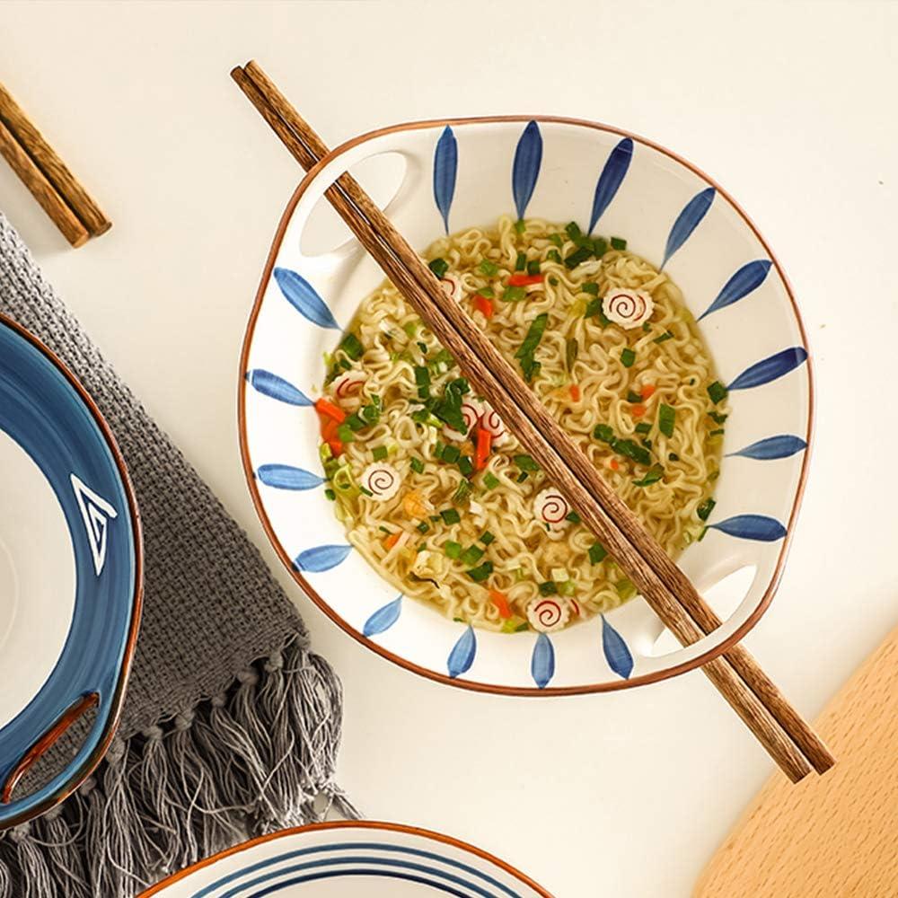 pour Pho Ramen Bols /à Soupe Ramen Profond de Style Asiatique avec Baguettes Lave-Vaisselle et Micro-Ondes Nouilles AWYGHJ Ensemble de 2 Bols /à Ramen en Porcelaine de 25 oz Soupe