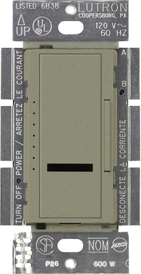 Lutron Maestro IR 1000-Watt Dimmer Switch for Incandescent and Halogen  Bulbs, Single-Pole, MIR-1000-GB, Greenbriar